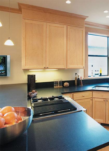 Cocinas tendencias y materiales - Cocinas color roble ...
